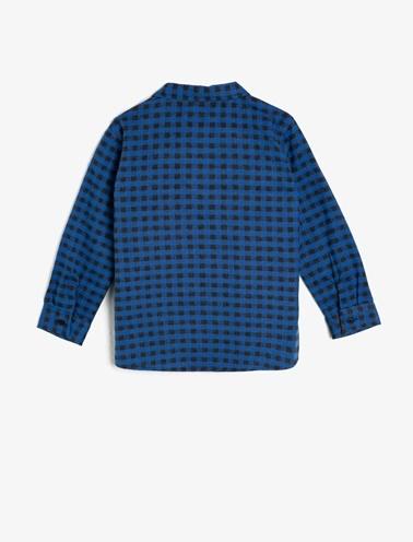 Koton Kids Kareli Gömlek Mavi